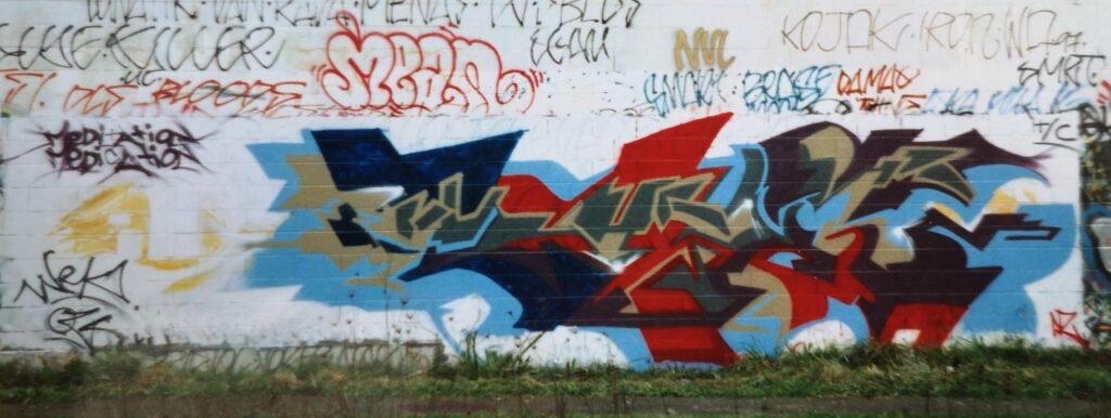 graffiti mural, morningside, new zealand